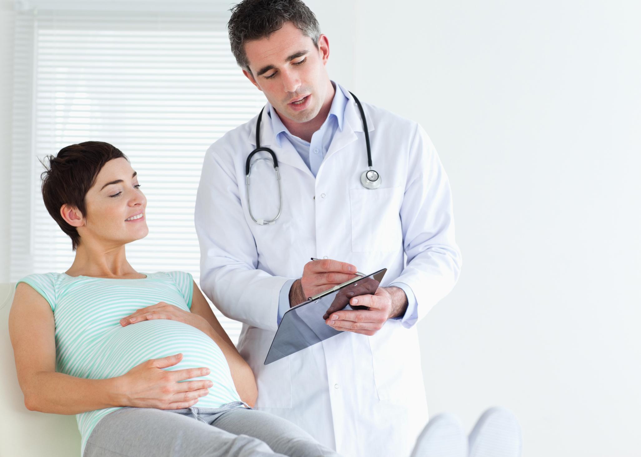 Беременная и врач фото