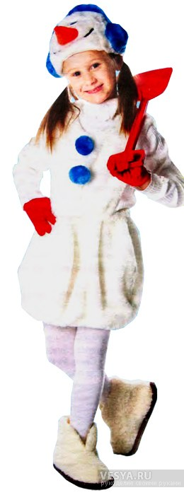 Сшить костюм снеговика своими руками на девочку