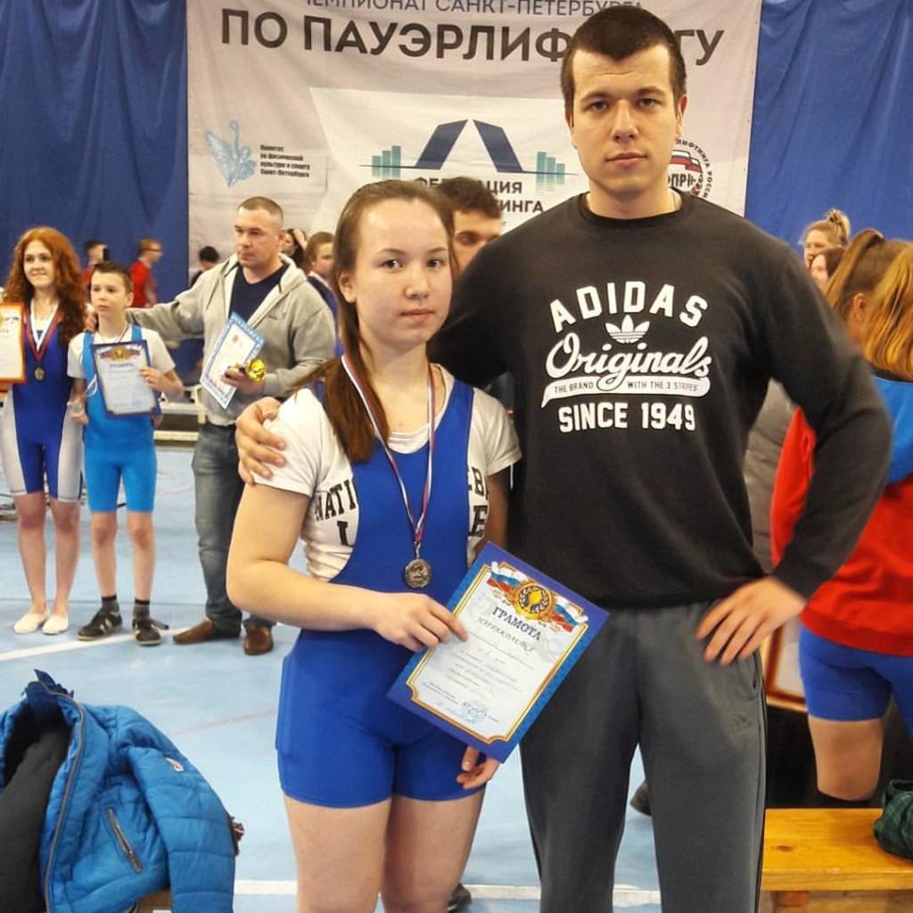 Даша Воробьева с тренером Никитой Климовым