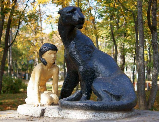 Ленобласть детям. Приозерск. Памятник Маугли