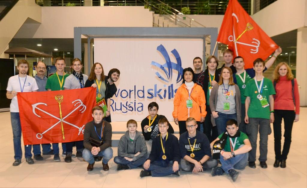 Петербургские юниоры WorldSkills Junior вернулись домой с целым комплектом медалей