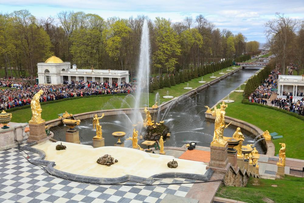 Праздник фонтанов в Петергофе-2018