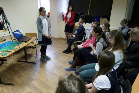 Юный наставник-мультипликатор провела мастер-класс для петербургских школьников